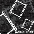 Film strip vector grunge background — Image vectorielle