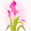 Royalty-Free Stock Imagen vectorial: Background with isolated flower