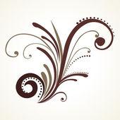 Illustratie van geïsoleerde bloemmotief — Stockvector