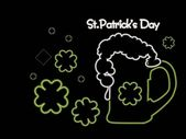Vector illustrtaion for st patrick day — Stock Vector