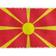 Flag of Macedonia on background — Stock Photo #2616478