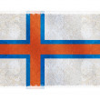 Flag of Faroe Islands on background — Stock Photo