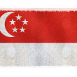 Flag of Singapore on background — Stock Photo