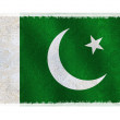 Flag of Pakistan on background - Stock Photo