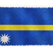 Flag of Nauru on background - Stock Photo