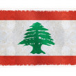 Flag of Lebanon on background - Stock Photo