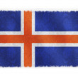 drapeau de l'Islande sur fond — Photo