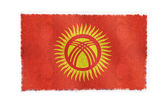 Flag of Kyrgyzstan on background — Stock Photo