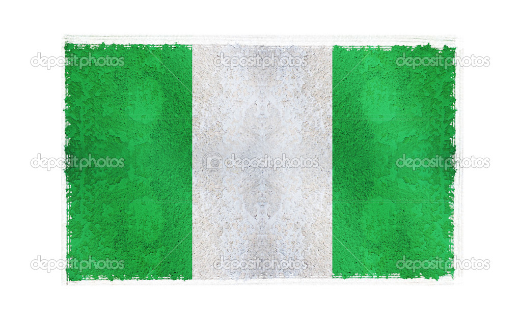 Flag of Nigeria on old wall background, vector wallpaper, texture, banner, illustration — Stock Photo #2619994