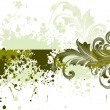 Vector de stock : Background with grungy floral pattern