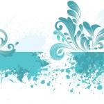 seagreen tło wzór artystyczny — Wektor stockowy