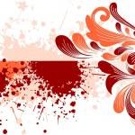 Grungy filigree pattern illustration — Stock Vector