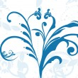 Blue floral pattern with background — Stock Vector #2620948