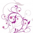 Royalty-Free Stock : Background with white purple floral