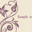 Floral sample text background — Stock Vector