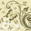 Background with floral, butterfly — Stock Vector #2629799