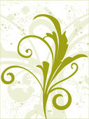Beautiful green floral pattern — Stock Vector