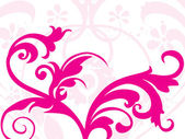 Pink floral pattern background — Stock Vector