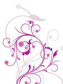 Background with white purple floral — Vetor de Stock
