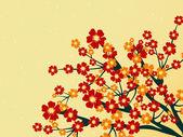 Illustration of summer tree branch — Stock Vector