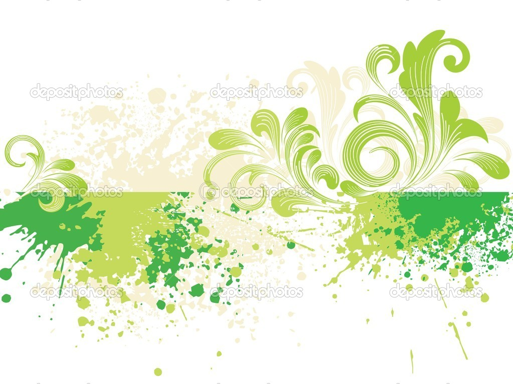 Abstract grunge background with green natural pattern — ベクター素材ストック #2620474