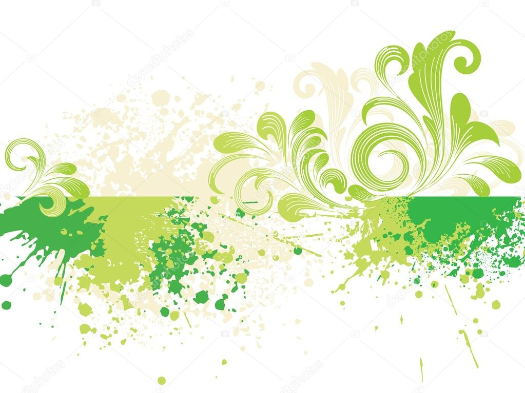 Abstract grunge background with green natural pattern — Stock vektor #2620474