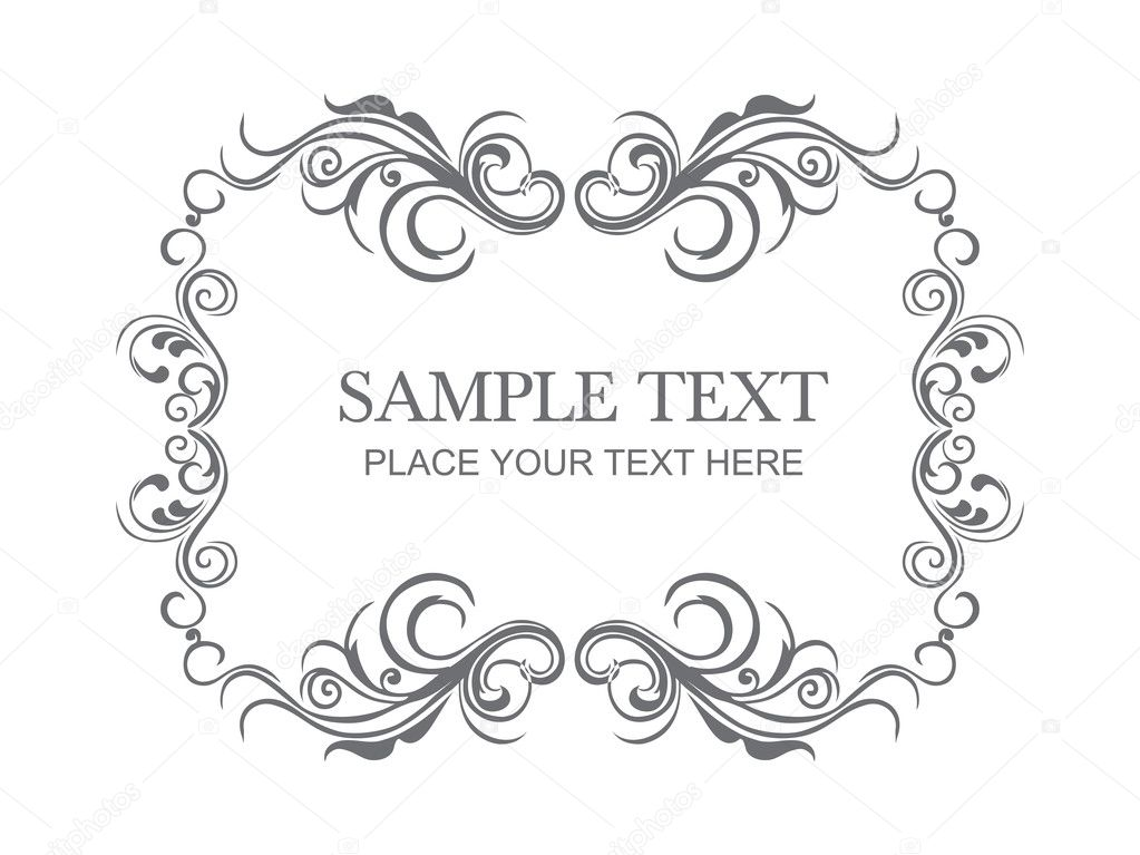 Beautiful floral frame with place for text  Stock Vector #2629612