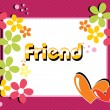 Stock Vector: Card for friendship day