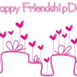 Royalty-Free Stock Vector Image: Friendship day background