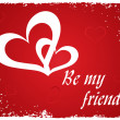 Stylish background with romantic heart — Image vectorielle