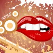 Background  with sexy lip — Imagens vectoriais em stock