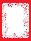 Frame with floral and hearts — Stock Vector