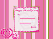 Friendship day note with pink — Stock Vector