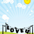 Romantic scenery background — Imagens vectoriais em stock