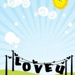 Romantic scenery background — Stock Vector