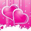 Abstract romantic pink background — Imagen vectorial