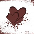 Background with grungy heart - Stock Vector