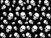 Background with skull — Stock Vector