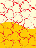 Halftone background with red heart — 图库矢量图片