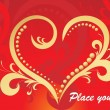 Background with romantic heart — Imagen vectorial