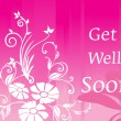 Get well soon floral series design1 - Stock Vector