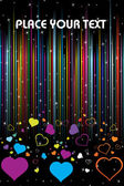Colorful heart on background — Vector de stock