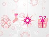 クリスマスのアイコンの背景をぶら下げ — ストックベクタ