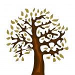 Abstract vector tree — Stock Vector