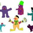 Royalty-Free Stock Vector Image: Little monsters.