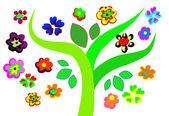 Kwiatowy tło wektor — Wektor stockowy