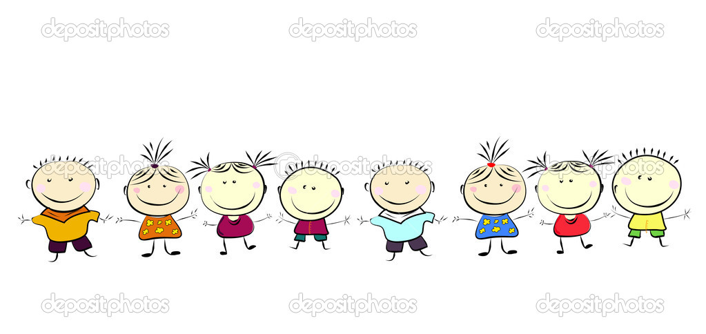 Happy kids. — Stock Vector #2266245