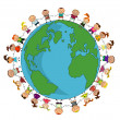 Royalty-Free Stock Vector Image: Kids around the world