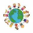 Stock Vector: Kids around the world