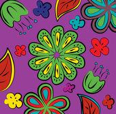 Vektor bakgrund med blommor — Stockvektor